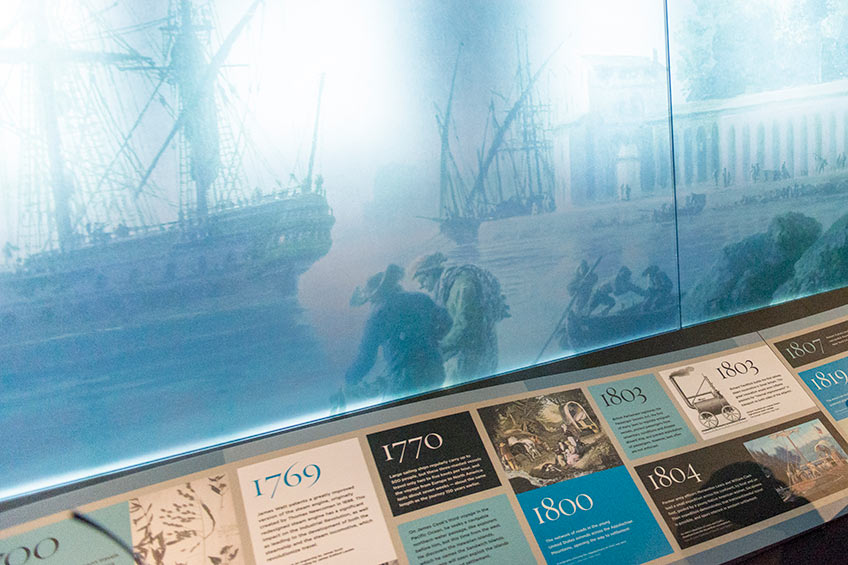exhibit in an american history museum