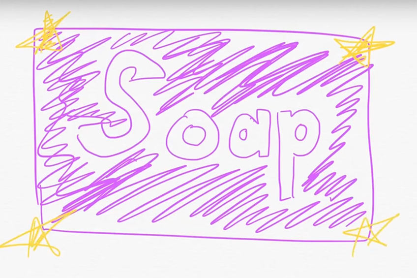 drawing of soap