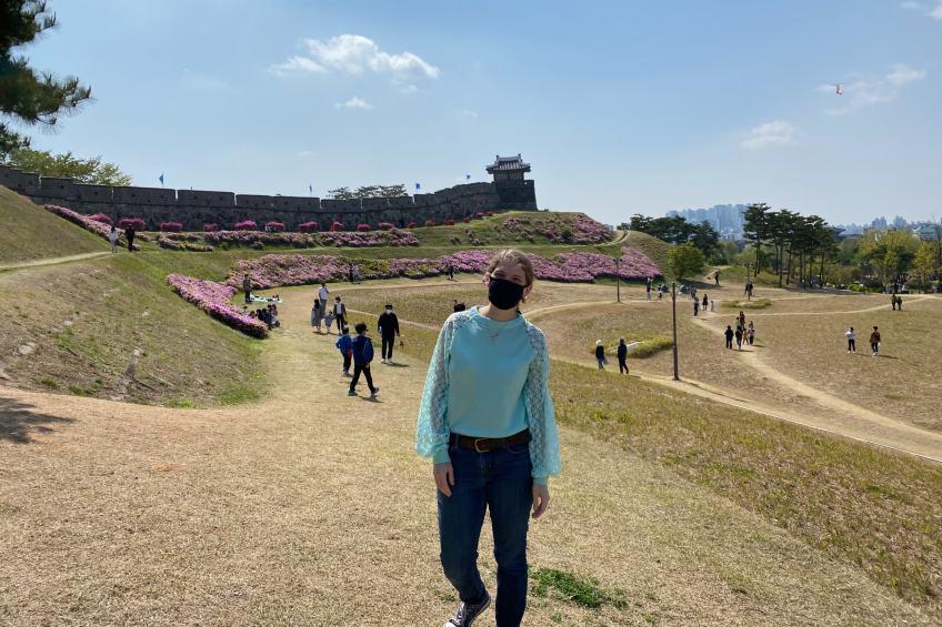 wtma instructor rebecca mengle in south korea